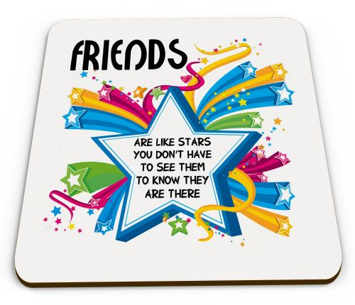 Friends Are Like Stars Glossy Mug Coasters